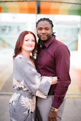 Dana Hauger and Andre Bailey